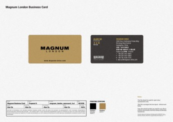 new logo new business card, front and back, new identity, gold and black   British Fashion Retail Brand – Magnum London :: holistic branding