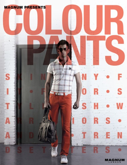 colour pants S/S 2008 in-store poster design display | British Fashion Retail Brand – Magnum London :: graphical visual merchandising