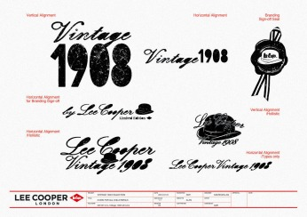 artwork of all Logos all-time use | Lee Cooper in China :: retailing packaging design for new premium jeans Vintage 1908 Collection