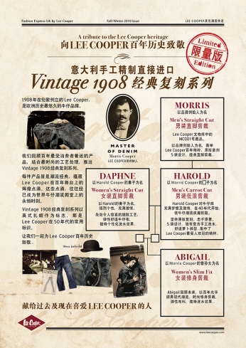 Chinese POP | Lee Cooper in China :: retailing packaging design for new premium jeans Vintage 1908 Collection