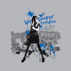 design womenswear tee guitar girl rock graffiti | British Fashion Denim Retail Brand – Lee Cooper in China :: LCUK collection fashion graphics