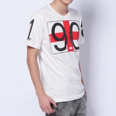 white short sleeves round-neck tee front huge British flag since 1908 print menswear | British Fashion Denim Retail Brand – Lee Cooper in China :: LCUK collection fashion graphics