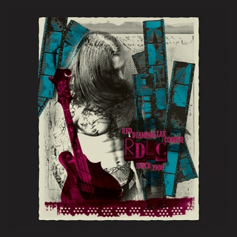 print design rough film guitar menswear red blue ivy white rendering   British Fashion Denim Retail Brand – Lee Cooper in China :: RDLC collection fashion graphics