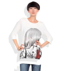 huge print with red drink, white round neck tee, womenswear design | British Fashion Denim Retail Brand – Lee Cooper in China :: fashion graphics RDLC collection