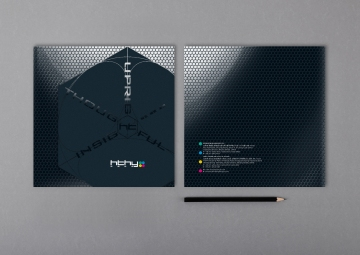 Corporate Brochure Covers glossy laminated pattern, 3D concept | Leading Retail Renovation Brand – HTHY Group :: Holistic Branding brand book