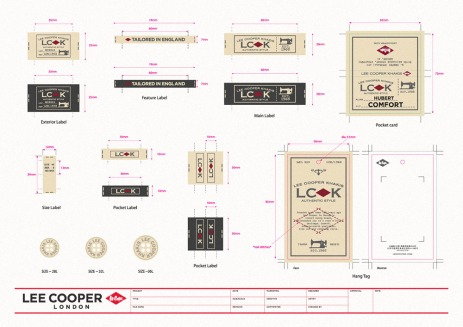 new developed collection by China team, Lee Cooper Khakis pants series LCK, design shows craftsmanship, vintage types sewing machine | British Fashion Denim Retail Brand – Lee Cooper in China :: LC Khakis collection packaging fashion graphic