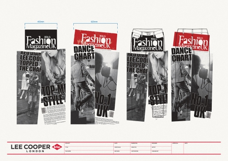 design print pants, rough magazine look vintage titles rendering huge | British Fashion Denim Retail Brand – Lee Cooper in China :: RDLC collection fashion graphics