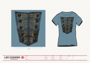 design print womenswear blue tee photo western baroque style buttons phot rendering | British Fashion Denim Retail Brand – Lee Cooper in China :: RDLC collection fashion graphics