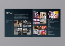 Corporate Brochure inside spread page brand book, servicing shop bulkhead signage window display making | Leading Retail Renovation Brand – HTHY Group :: Holistic Branding
