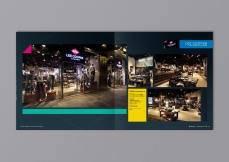 Corporate Brochure brand book inside spread pages, portfolio for Lee Cooper shops, in corporate colours | Leading Retail Renovation Brand – HTHY Group :: Holistic Branding