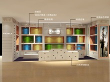 design shop-in-shop rendering aisle version adaptation | Women's Leather Goods Retail Brand :: holistic branding
