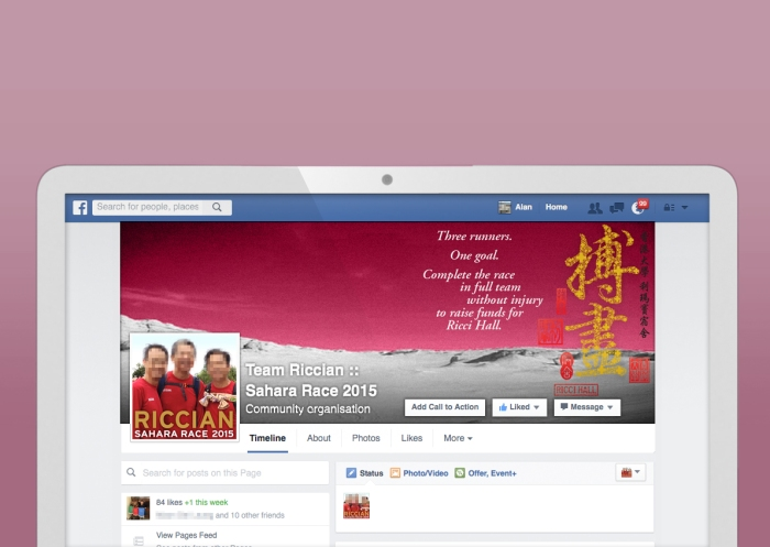 "Team Riccians for Sahara Race 2015 ""Facebook Fan Page"""