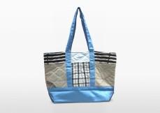swan blue parent bag, remade recycling diaper bag baby outdoor gear equipment | Second-hand Retail Platform – Green Baby Garden :: Upcycling Product Development