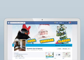 """Fashion Branded Retail in New Jersey :: branding and identity applications :: Facebook Banner """"Christmas"""""""