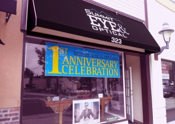 Fashion Branded Retail in New Jersey :: branding and identity applications :: 1st Anniversary Celebration Banner