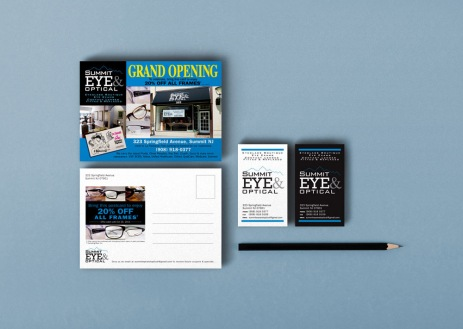 Eyewear Optical Retail in New Jersey :: Printed Materials :: name card and postcard