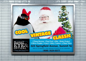 "Fashion Branded Retail in New Jersey :: branding and identity applications :: Transit Poster ""Christmas"""