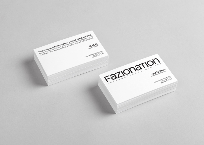 Fazionation corporate name card