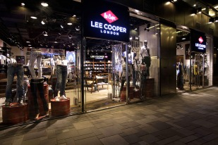 left window display, after finish displays after midnight | British Fashion Denim Retail Brand - Lee Cooper in China :: Beijing Sanlitun Flagship store retail design