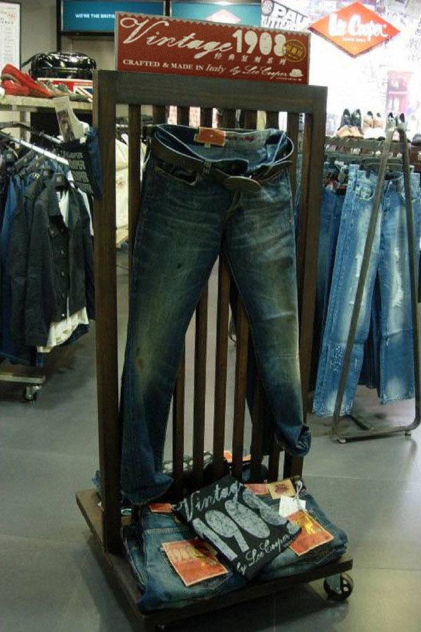Lee Cooper Vintage 1908 Collection :: Visual Merchandising :: Individual In-store Display