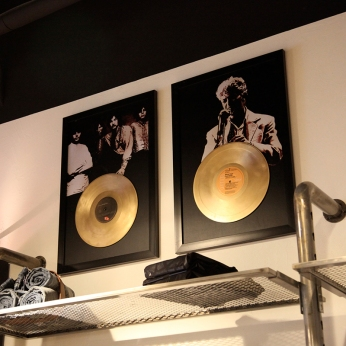 Lee Cooper in China :: retail graphic and visual merchandising all shops :: golden vinyl album framed