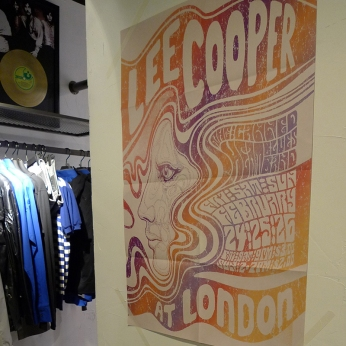 Lee Cooper in China :: retail graphic and visual merchandising all shops :: remade vintage music event poster