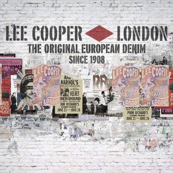 performance poster wall, tear off posters behind | British Fashion Denim Retail Brand - Lee Cooper in China :: retail graphic and visual merchandising all shops