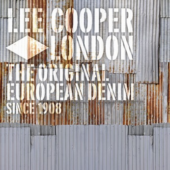 Lee Cooper in China :: retail graphic and visual merchandising all shops :: printed 2D corrugated tron with branding