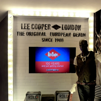 shop front, TV wall, display window | British Fashion Denim Retail Brand - Lee Cooper in China :: retail graphic and visual merchandising all shops