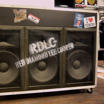 RDLC branded 3 woofers black cashier desk, music related inspired fixture furniture VMD | British Fashion Denim Retail Brand - Lee Cooper in China :: retailing design and visual merchandising all shops props
