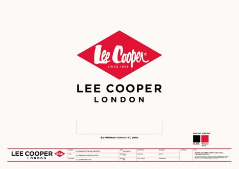 branding logo identity adaptation Far-East only adding London origination heritage | British Fashion Denim Retail Brand – Lee Cooper in China :: brand identity
