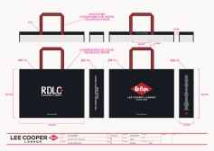 Lee Cooper in China :: retail design & retailing graphics ::large shopping bag