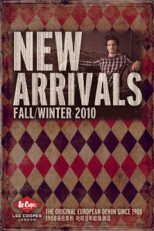 image graphics ruggedness vintage seasonal new arrival in-store POP, Autumn/Winter Fall/Winter A/W F/W 2010 UK heritage | British Fashion Denim Retail Brand - Lee Cooper in China :: retail design & retailing graphics