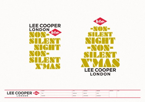 "seasonal VM logo design ""Non-silent Night; non-silent X'mas"" promotion display theme concept | British Fashion Denim Retail Brand – Lee Cooper in China :: retail design & retailing graphics"
