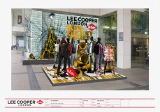 "island disply outside mall special window seasonal VM logo design ""Non-silent Night; non-silent X'mas"" display theme concept 