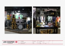 seasonal winter festival VMD window display golden woofer loudspeaker X'mas tree, Christmas 2010 UK heritage | British Fashion Denim Retail Brand - Lee Cooper in China :: retail design & retailing graphics