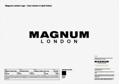 vertical full logo on white | Magnum London :: Brand identity design