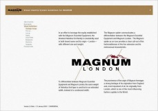 visual identity system guideline, inside logo meaning definition, VIS CIS, new identity revamp design | British Fashion Retail Brand – Magnum London :: holistic branding