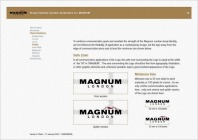 visual identity system guideline, inside logo safe zone minimum size, VIS CIS, new identity revamp design | British Fashion Retail Brand – Magnum London :: holistic branding