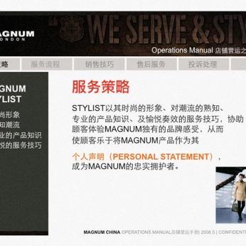 system guideline making Visual Merchandising Operation manual, service page | British Fashion Retail Brand – Magnum London :: Brand identity
