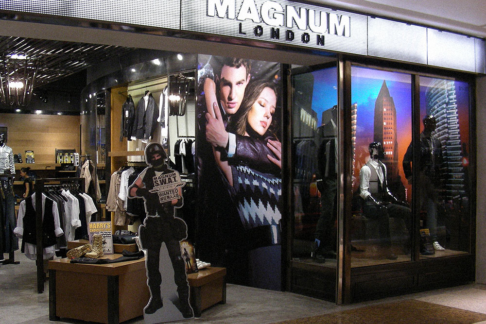 Magnum London :: British Fashion Retail Brand :: customer relationship programme :: all POPs