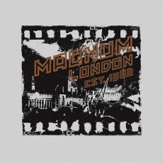 menswear, design, typography o black photographic film featuring London landmarks | British Fashion Retail Brand – Magnum London :: fashion graphics