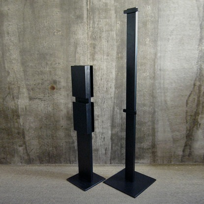 black raw steel magazine rack, shop front poster stand | British Fashion Retail Brand - Magnum London :: Visual Merchandising