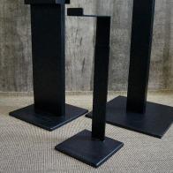 black raw steel height adjustable bag holder | British Fashion Retail Brand – Magnum London :: Visual Merchandising