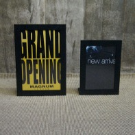 black raw steel POP stand, A3 and A4 size | British Fashion Retail Brand – Magnum London :: Visual Merchandising