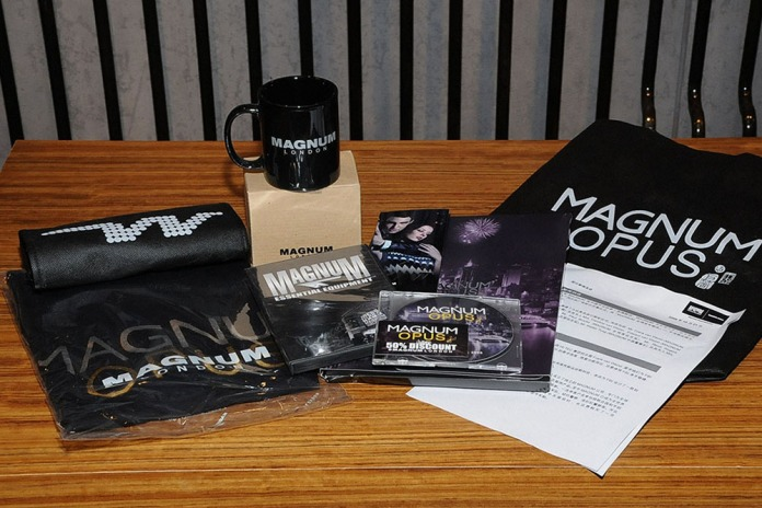PR press kit, premium, mug, tee, non-woven bag, lookbook, DVD, folder, press release | British Fashion Retail Brand – Magnum London :: Event Magnum Opus 2008