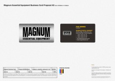 new business card design front and back metallic feel revamped logo | British Tactical Apparel Wholesale Brand – Magnum Essential Equipment :: branding