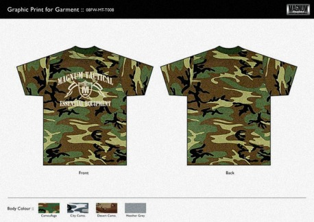 design US camouflage tee white print graphics for sale | British Tactical Apparel Wholesale Brand – Magnum Essential Equipment :: branding