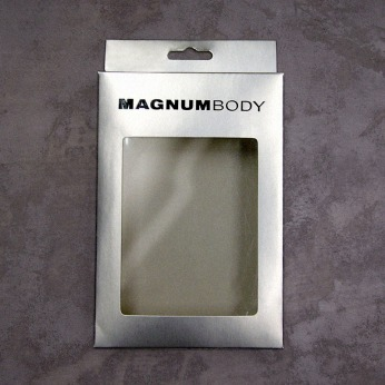 packing design underwear box silver cardboard window hanging hole accessories body wear | British Fashion Retail Brand - Magnum London :: packaging