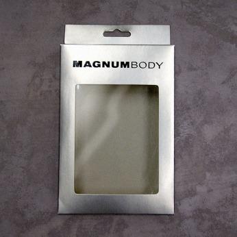 packing design underwear box silver cardboard window hanging hole accessories body wear | British Fashion Retail Brand - Magnum London :: packaging